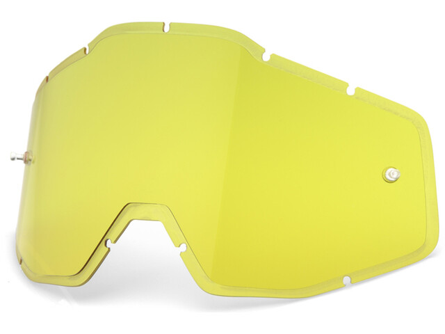 100% Injected HD Anti-Fog F. Injected Lenses Racecraft/Accuri/Strata yellow